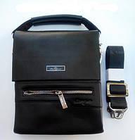 Деловая кожаная сумка LansGa, фото 1