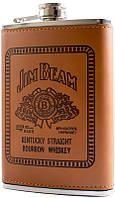 Фляга обтянута кожей (256мл) Jim Beam BP-9-3