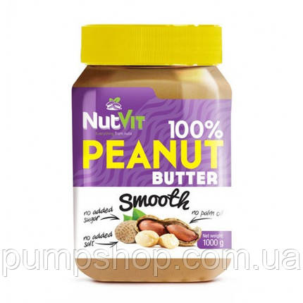 Арахісова паста 100% Peanut Butter OstroVit -1000 грам, фото 2