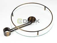REJS Полка стеклянная выносная 350мм латунь Rejs
