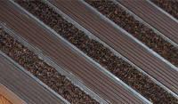 Грязезащитная решетка «Лен» резина+текстиль, коричневый 600х400мм