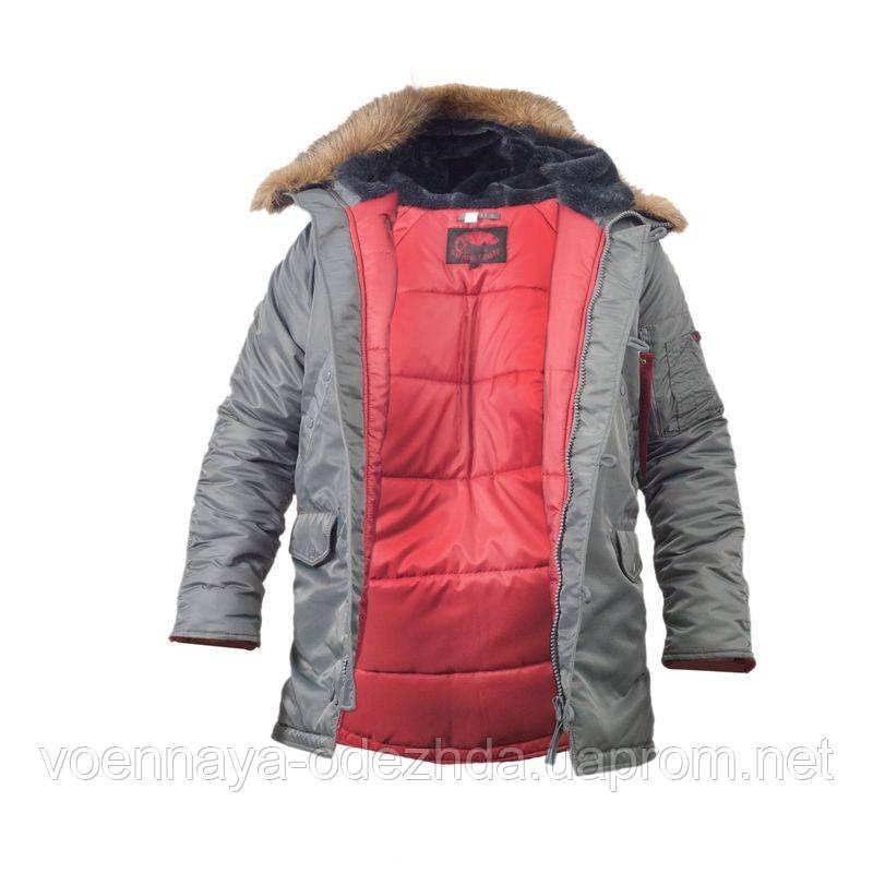 Куртка лётная slim fit аляска n-3b Gray - Военная одежда и снаряжение
