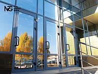 Алюминиевые двери со стеклом входные цена