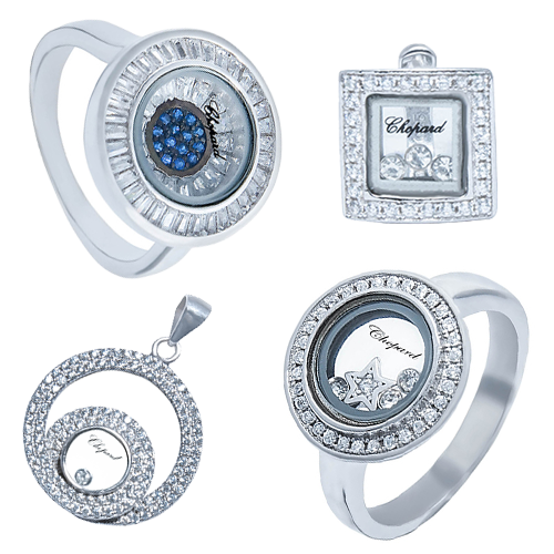Серебряные изделия в стиле Chopard