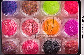 Меланж флуоресцентный набор 12 цветов