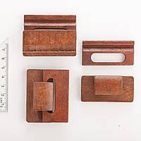 """Фурнитура Застежка деревянная для браслетов Hand Made """"красное дерево"""" за шт 4,5х5,9 см"""