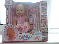"Кукла пупс ""Baby Born"". 9 функций, 9 аксессуаров. Компания Zapf Creation."