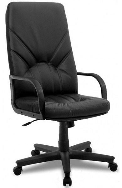 Кресло Менеджер TB-9056 НВ тм AMF, кожзам Неаполь черный (TB-9056 PU+PVC BLACK)