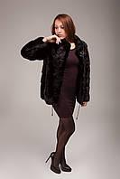 Шуба женская норковая (короткая, без капюшона, натуральная, модная, изысканная)