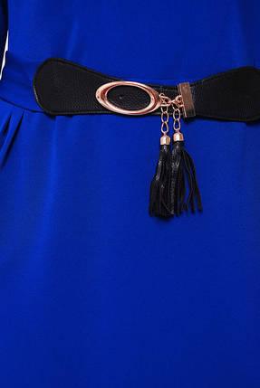Женское нарядное коктейльное платье Тэйлор цвет электрик размер 52-58 / батальное, фото 2