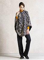 Эксклюзивное женское пончо IVKO Woman из шерсти с цветочными рельефами