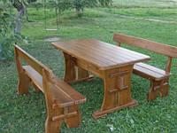 Мебель садовая из натурального дерева  Деревенская КОМПЛЕКТ, фото 1