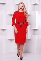 Женское нарядное коктейльное платье Тэйлор цвет бордо размер 52-58