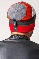 Мужская шапка RISE UniX, красный/т.серый/перламутр