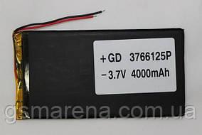 Аккумулятор универсальный 3766125P 12,5cm х 6,6cm 3,7v 4000mAh