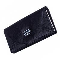 Женский кожаный кошелек Bobi Diqi черного цвета, фото 1
