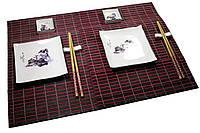 Сервиз для суши Девочка и Олень на 2 персоны керамика