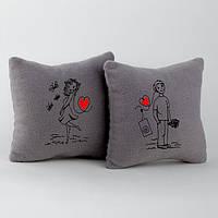 Подушки сувенирные с вышивкой Muzika love в расцветках