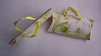 Подарочный конверт для денег в виде сумочки 190*95мм,лак,блестки,ленточки.Конверт для грошей в вигляді  сумочк