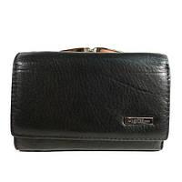 Компактный женский кожаный кошелек Mario Veronni 155-032 черный