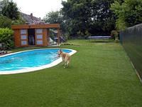 Искусственная декоративная ландшафтная трава , искусственный газон