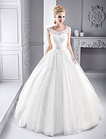"""Шикарное пышное свадебное платье силуэта """"Принцесса"""" со съемным болеро из цветочного кружева и ручной вышивкой"""