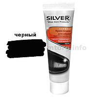 Крем для обуви туба без губки Silver Premium 50мл черный