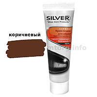 Крем для обуви туба з губкой Silver Premium 75мл коричневый