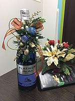 Новогоднее оформление бутылки, фото 1