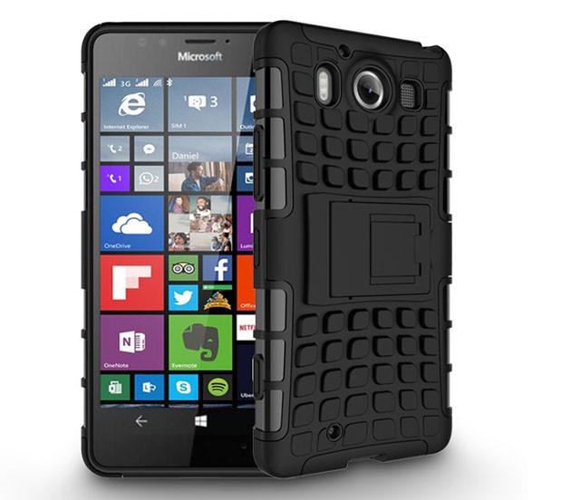 Бронированный чехол для  Microsoft (Nokia) Lumia 950 Пластик, Подставка, Microsoft Lumia, Черный