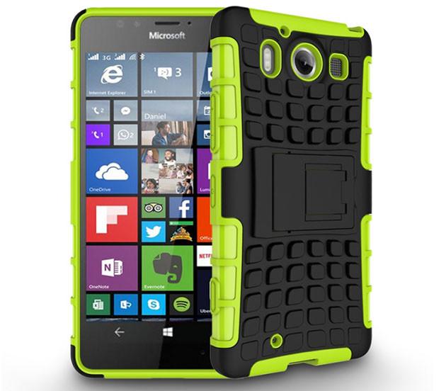 Бронированный чехол для  Microsoft (Nokia) Lumia 950 Пластик, Подставка, Microsoft Lumia, Зеленый