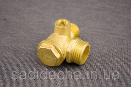 Обратный клапан Н8 для компрессора (резьба наружная/внутренняя 8/16/20 мм) средний (медный)