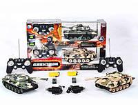 Танк на радиоуправлении 666-DZ01/2: 2 танка, пульты ДУ, 2 ЗУ, батарейки «крона», аккумуляторы, звук