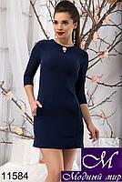 Короткое темно-синее платье (р. S, M, L) арт. 11584