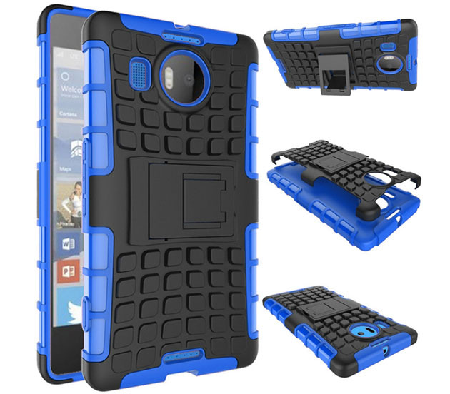 Бронированный чехол для  Microsoft (Nokia) Lumia 950 XL Пластик, Подставка, Microsoft Lumia, Синий