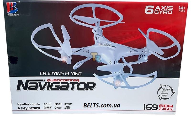 Дрон с камерой Quadrocopter Navigator 169V на радиоуправление