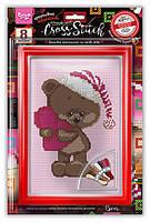 "Набор для творчества ""Вышивка крестиком на канве"" Cross Stitch Danko Toys VKB-01-08"