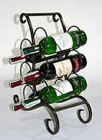 Кованая подставка для вина №604 черный/золото, фото 1