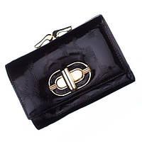 Небольшой женский кожаный кошелек Bobi Diqi черного цвета
