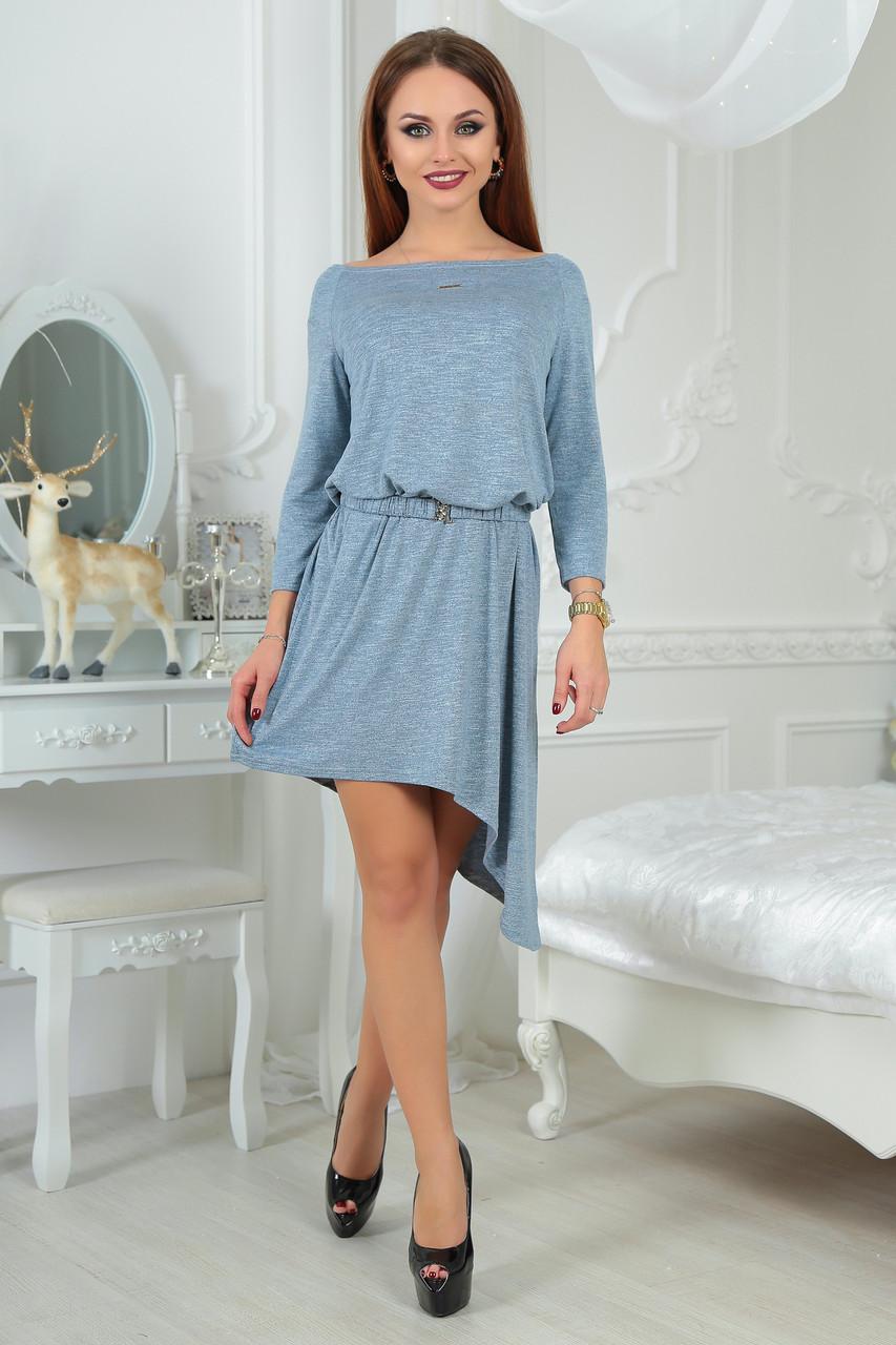 Модное женское платье  набок  0019