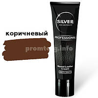 Крем краска для обуви тюбик Silver professional 75ml (02 коричневый)