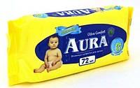 Влажные салфетки для детей AURA 72шт.