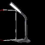 Светодиодный настольный светильник MAXUS DKL 6W 4100K Черный (1-DKL-002-01), фото 2