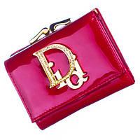 Небольшой женский кожаный кошелек Bobi Diqi красного цвета