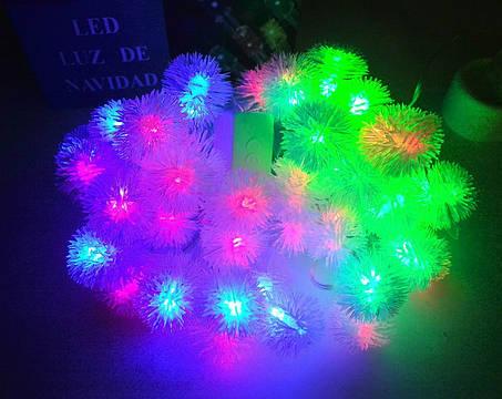 Гирлянда светодиодная снежинки (LED) 40 л, фото 2