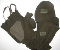 Перчатки-варежки флисовые камуфлированные из теплого флиса