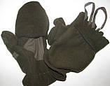 Перчатки-варежки на рыбалку из теплого флиса, фото 2