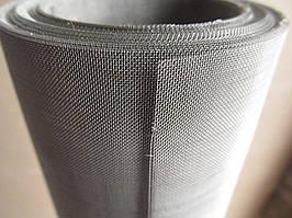 Сітка ткана з нержавіючої дроту. Осередок: 0,8 мм, Дріт: 0,32 мм, Ширина 1м.