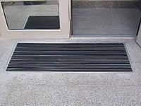 Придверная решетка Лен резина+щетка 600х400мм +внутреннее обрамление