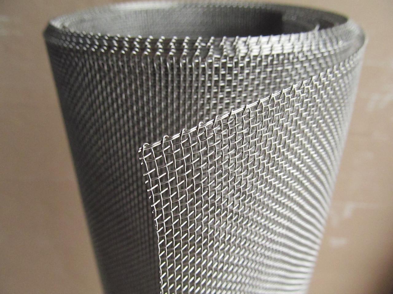 Сетка тканая из нержавеющей проволоки. Ячейка: 1,5мм, Проволока: 0,4мм, Ширина 1м.